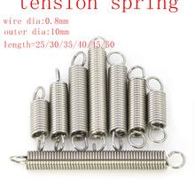 0.04x0.43x1.18 Spring Assortment Extension and Compression Steel Spring Tool Kit 5Pcs