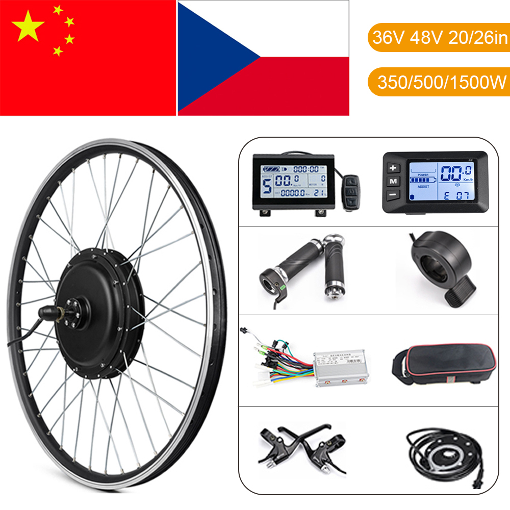 Ebike <font><b>Conversion</b></font> <font><b>Kit</b></font> 20in 26in 1500W Hub Motor Rad <font><b>Kit</b></font> 36V 48V 500W Vorne Hinten Elektrische <font><b>bike</b></font> Motor Rad <font><b>E</b></font> <font><b>bike</b></font> <font><b>Conversion</b></font> <font><b>Kit</b></font> image