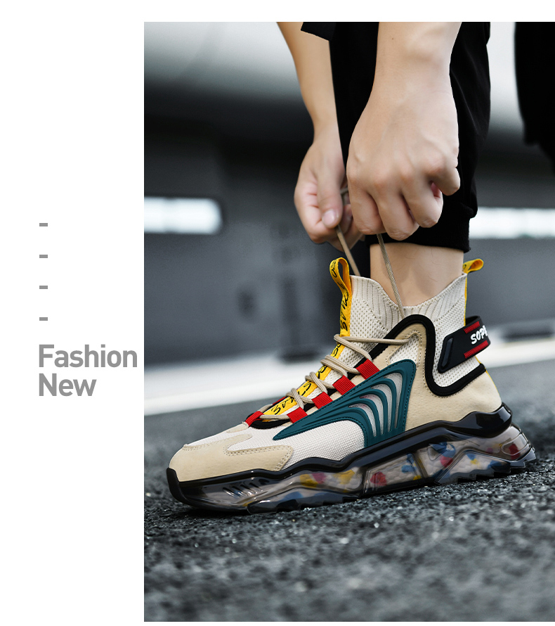 Fashion Classic Men Sneakers Spring Breathable Running Shoes for Men Graffiti Sport Shoes High-top Mesh Walking Jogging Shoes 46