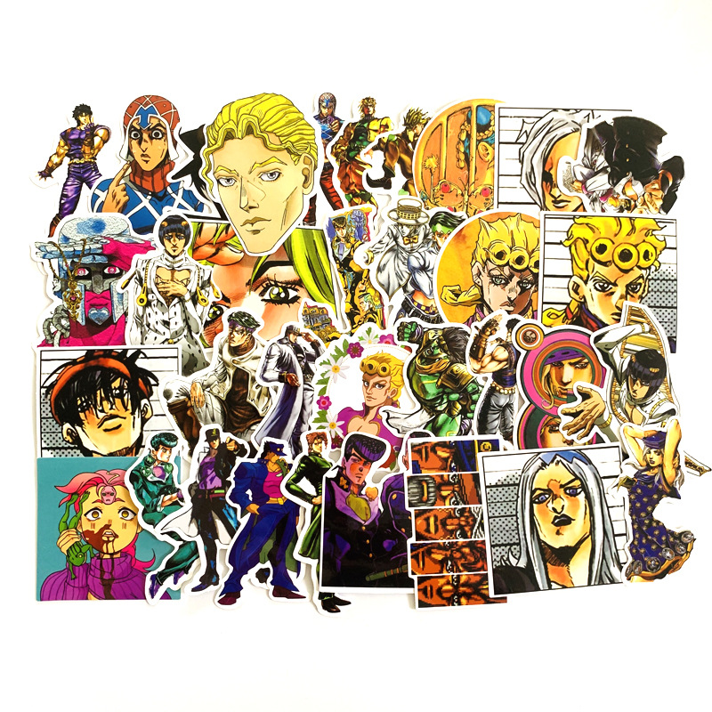 TD ZW 50Pcs JoJos Bizarre Adventure Stickers Waterproof Decal Laptop Motorcycle Luggage Snowboard Fridge Phone Car Sticker