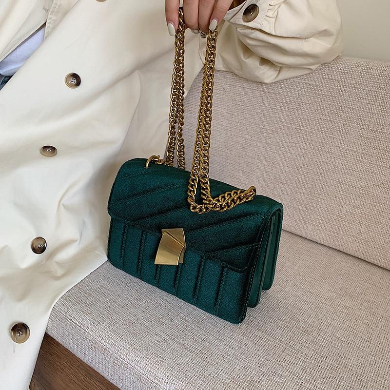 Luxury Handbags Women Bags Designer Shoulder Vintage Velvet Chain Evening Clutch Bag Messenger Crossbody Bags For Women 2019