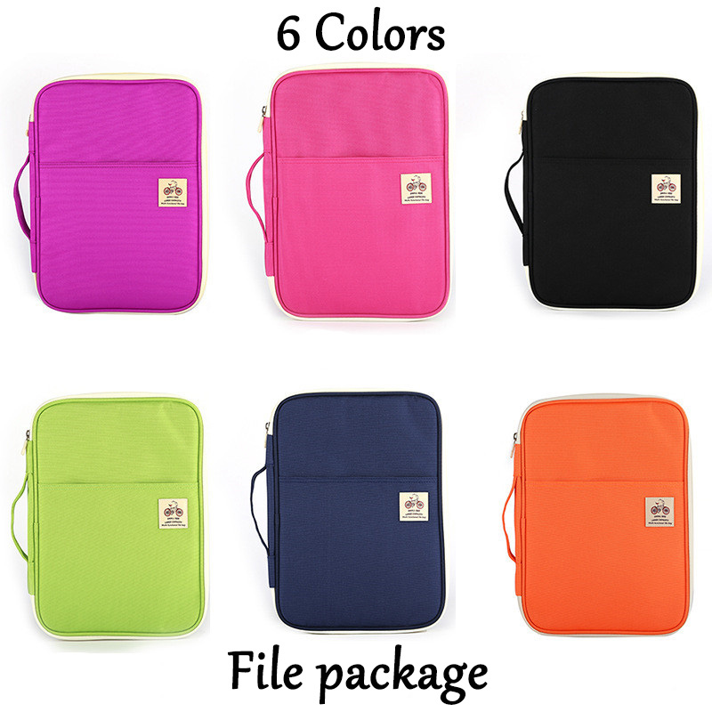 A4 Folders Bags Multi-functional Filing Document Portable Oxford Waterproof For Tablet Data Notebook Storage Stationery Bag Gift
