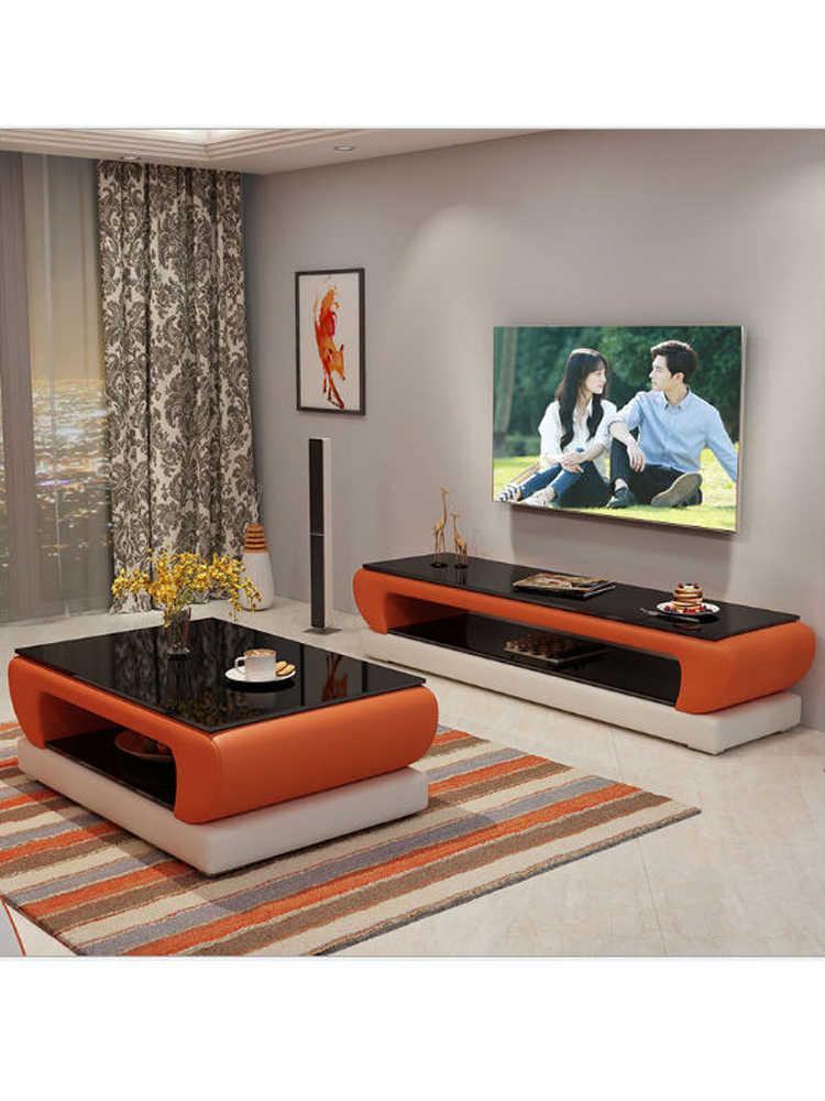 Alami Kaca Desain Kulit Meja Kopi Ruang Tamu Rak Tv Minimalis Modern Persegi Panjang Mesas De Centro Meja Basse Meja Kopi Aliexpress