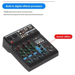 Image 5 - נייד bluetooth ערבוב קונסולת 4 ערוץ אודיו מיקסר עם Reverb אפקט לבית קריוקי USB שלב קריוקי KTV