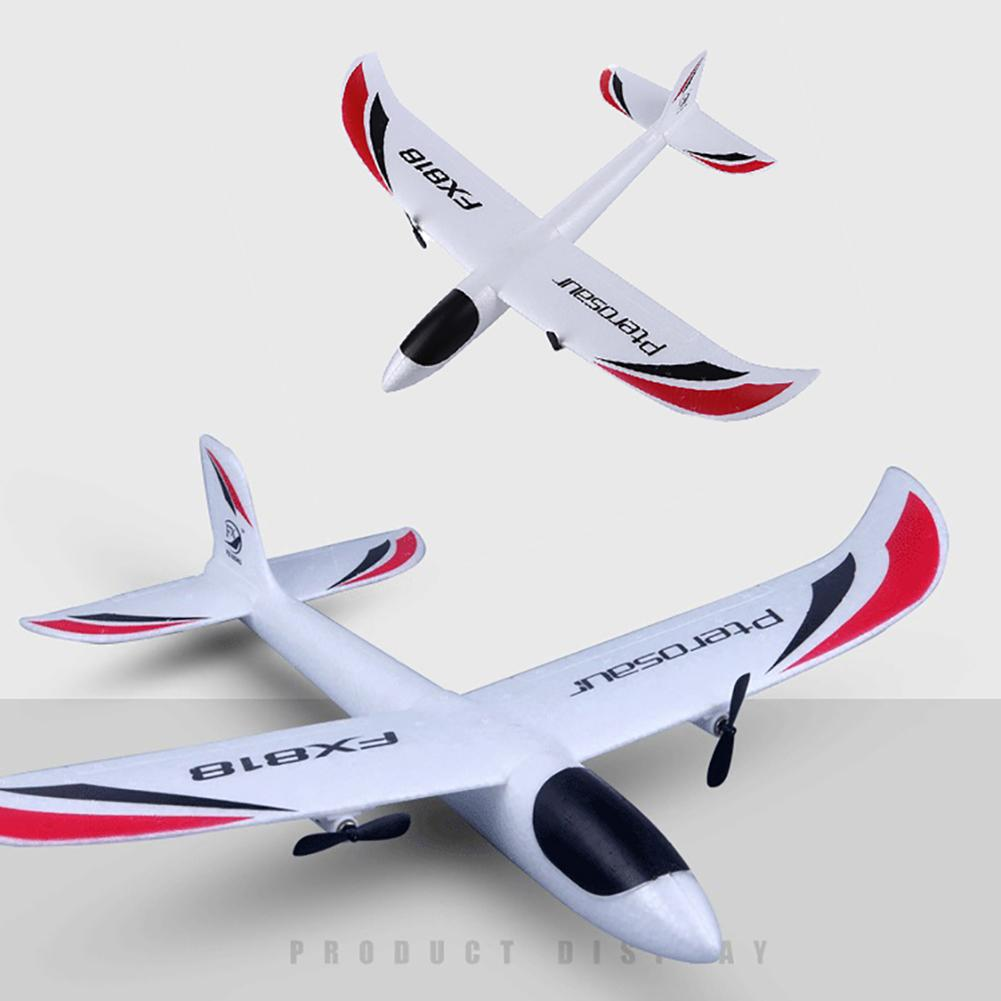 FX-818 2.4G EPP Remote Control RC Airplane Glider Toy with LED Light Kids Gift Foam Electric Outdoor Fixed Wing Aircraft