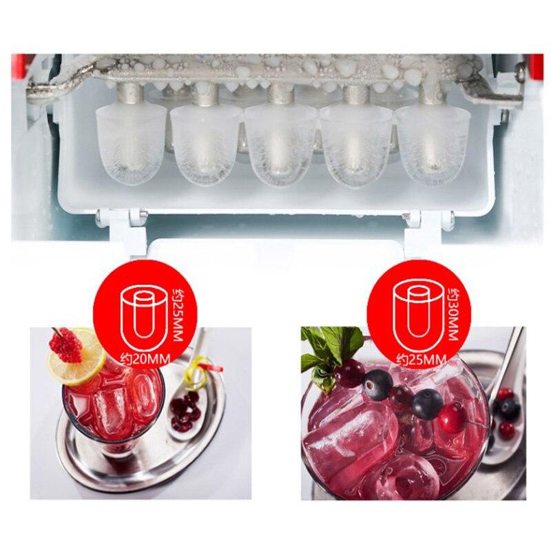 Machine à glace électrique à la maison de glace de balle de Machine à glace de 15 KG/24 H Machine de fabrication de glace ronde grand Bar café Teamilk Shop 220v rouge/argent - 4