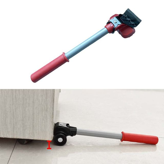 Furniture Mover Tool Transport Lifter Heavy Stuffs Moving 4 Wheeled Roller with 1 Bar Set 4