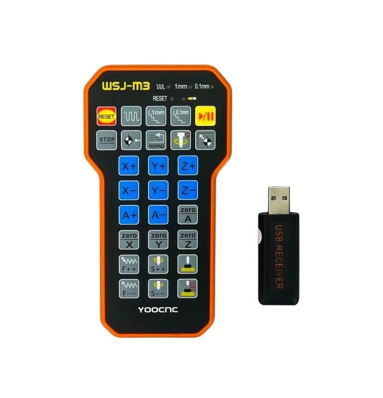 CNC Engraving Parts Remote Control Mach3 MPG USB Wireless Hand Wheel For CNC Machine