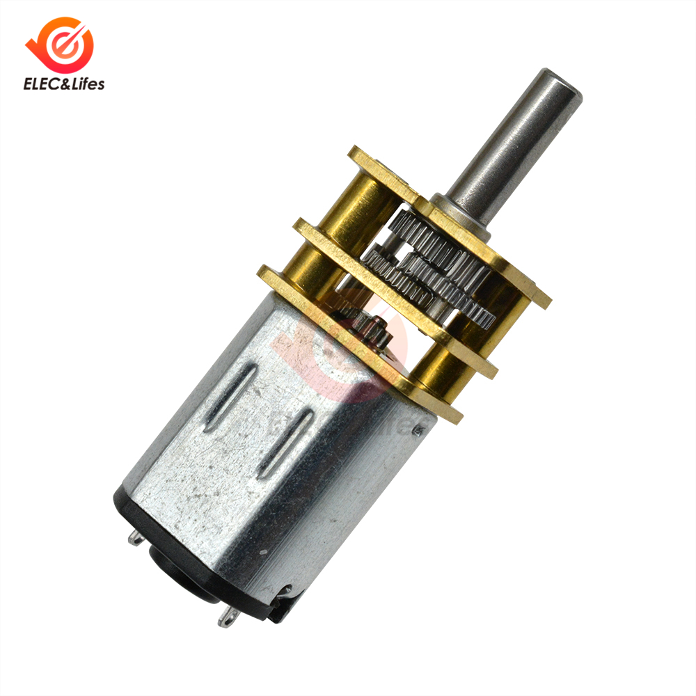 uxcell N20 12V 200RPM Micro Gear Motor with Rubber Wheel for Robot Smart Car