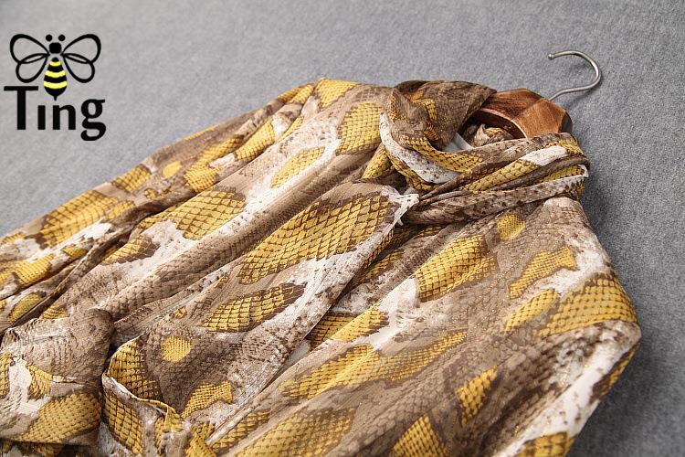 Tingfly 2020 designer leopardo serpentina pring vestidos de festa vintage senhora elegante assimétrica hem midi vestido casual plus size 3xl - 4