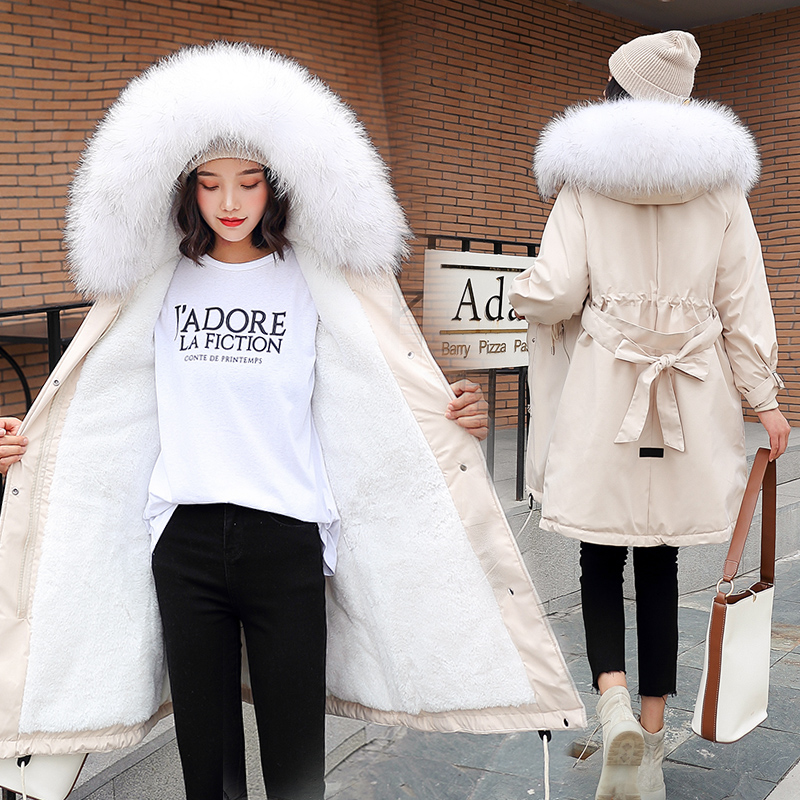 2020 Winter White Worm Duck Down Jacket Female Long Down Parka Plus Size Women Down Coat Female Loose Winter Jacket Women Coat