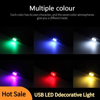 Nowy przyjazd! 7 kolorów USB Mini LED Light oświetlenie ambientowe samochodu samochodowa dekoracyjna lampa Neon lampka USB lampa atmosfera tanie i dobre opinie CN (pochodzenie) Klimatyczna lampa