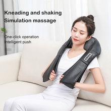 U kształt elektryczny masaż Shiatsu powrót szyi ramię ciało szyjki macicy zdrowy relaks wielofunkcyjny masażer ugniatający na podczerwień