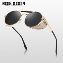 Neek Reden Retro Round Metal Sunglasses Steampunk Men Women Brand Designer Sun Glasses Driving Glasses Male UV400 oculos de sol 3lab h serum age defying booster