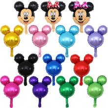 Minnie Mickey Mouse Head Foil Upright Balloons Helium Cartoon Mickey Balloons Birthday Party Decorations Baby Shower
