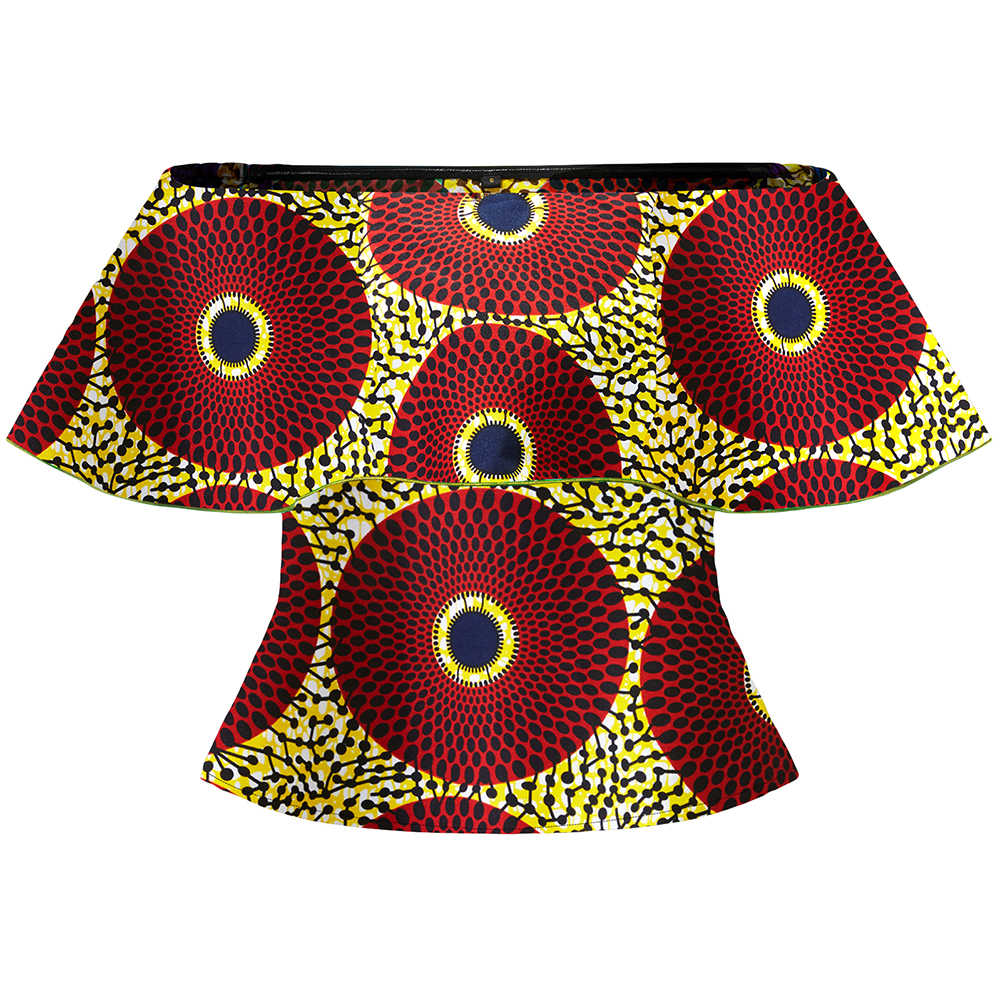 Africano vestire per le Donne di moda abbigliamento tradizionale africano donne una spalla top top camicia di stampa ankara vacanza vestiti