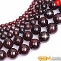 Натуральные драгоценные камни темно-красный гранат круглые бусины для изготовления ювелирных изделий Strand 15
