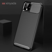 Case For Google Pixel 4 XL Pixel4 XL Cover Case luxury Armor Bumper Soft Silicone Carbon Fiber Tpu Shell coque(China)