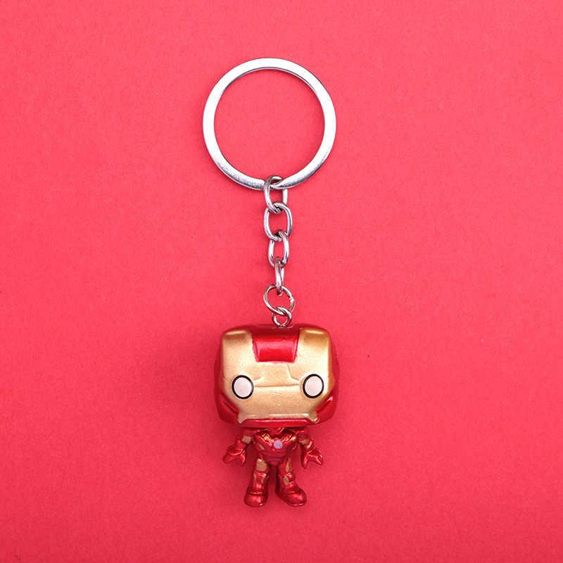 2019 חם אופנה חדשה פופ צעצועי Keychain מארוול קפטן אמריקה איש ברזל מפתח טבעת רכב Keyring נשים או גברים Keyring