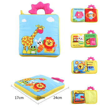 Educational Baby Toys Hot Infant Kids Early Development Cloth Books Learning Education Unfolding Activity Books DS19 baby toys infant baby book early development cloth books for kids learning education activity quite books animal tails dinosaur
