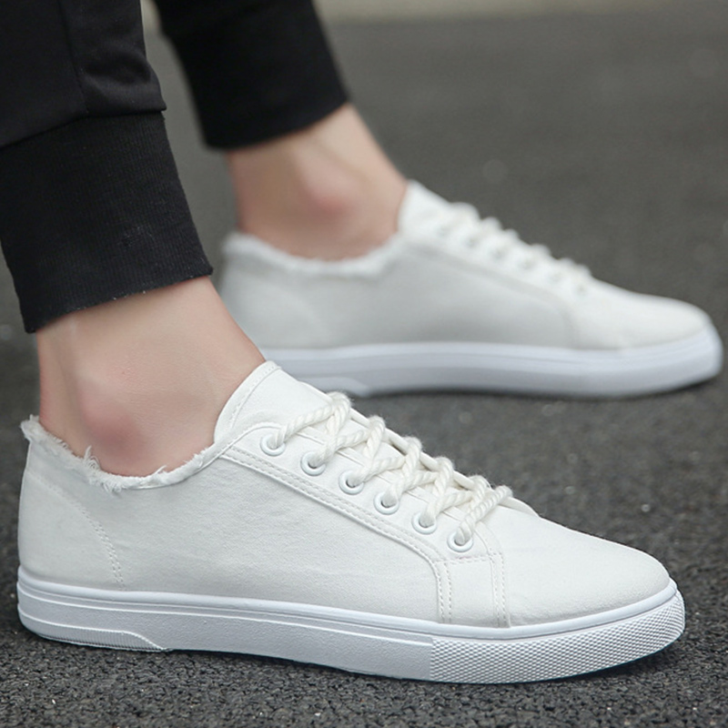 White Sneakers Boys Sport Shoes 2020 Spring Classic Shoes Men Casual Sneakers Canvas Shoes Men's Flat Shoes