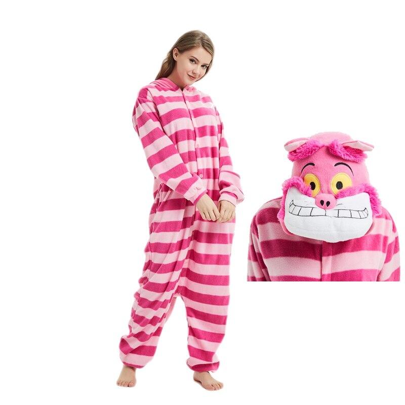 Cheshire Cat Kigurumis Unisex Couple Animal Onesie Funny Pajama Jumpsuit Women Adult Cartoon Anime Pijama Overalls Festival Suit