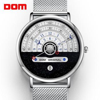 Креативные мужские часы DOM