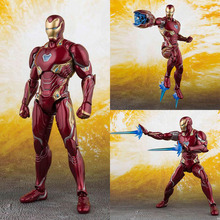 16cm Avengers Infinity War Iron Man MK50 PVC Action Figure Toys Iron Man MK50 Joint movable figure Collectible model toys gift цена
