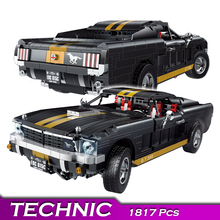 Kids Toys Car-Bricks-Set Building-Blocks Vehicle-Model Creator Expert Technic Muscle Car