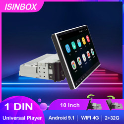 Universal 1Din Android Car Multimedia Player 4G/WIFI 30° Rotatable 10inch Screen WIFI 2G+32G GPS Bluetooth Car Radio Auto Player