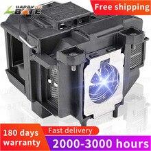 Happybate elplp67 substituição lâmpada do projetor para hc710hd/megaplex MG 50/MG 850HD EB C250W EB C15S EB C05S/EB W12/EB C35X/c215s