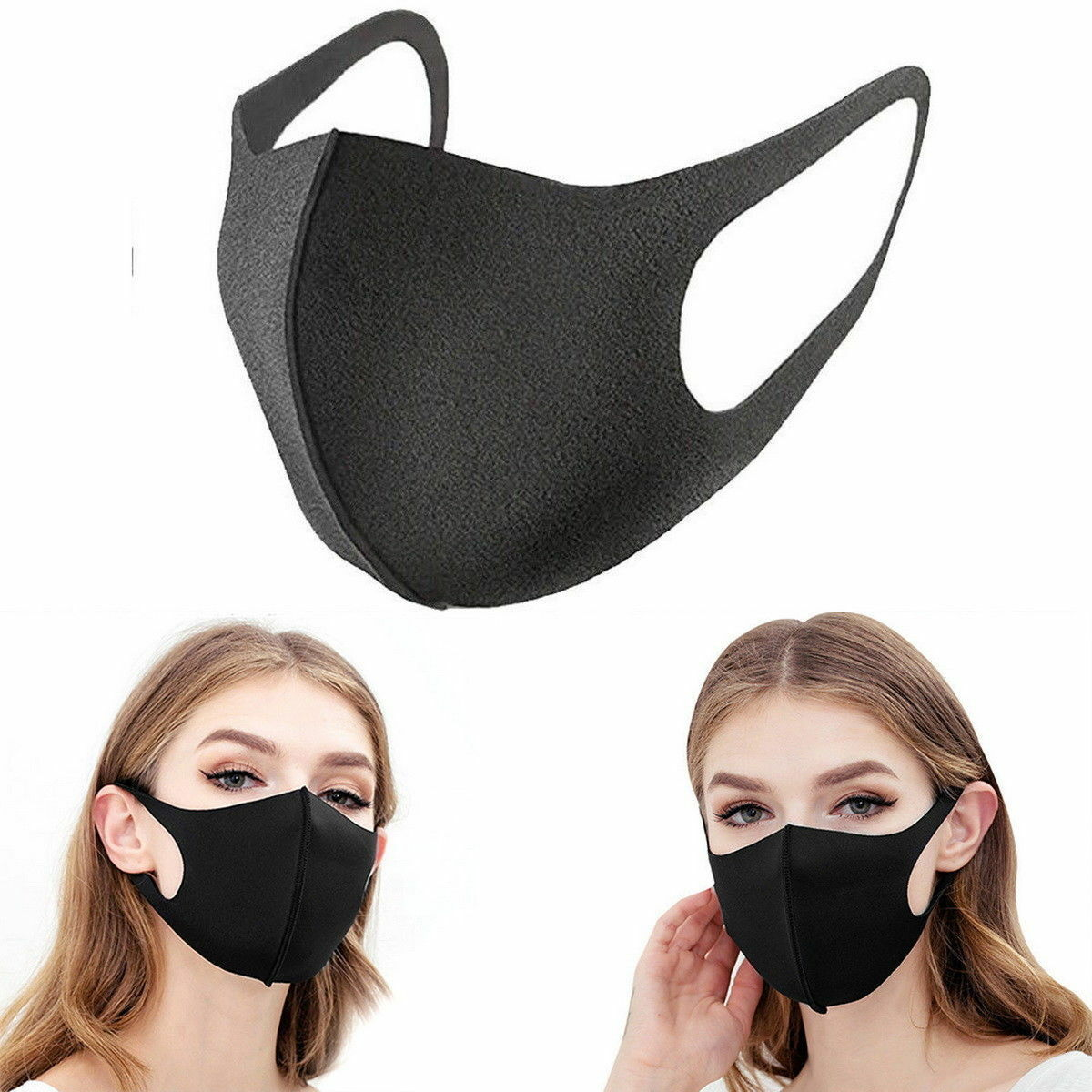 1/3Pcs Washable Mask Anti Dust Cycling Mouth Face Sponge Health Mask HOT Earloop Mask Surgical Respirator Personal Health Care