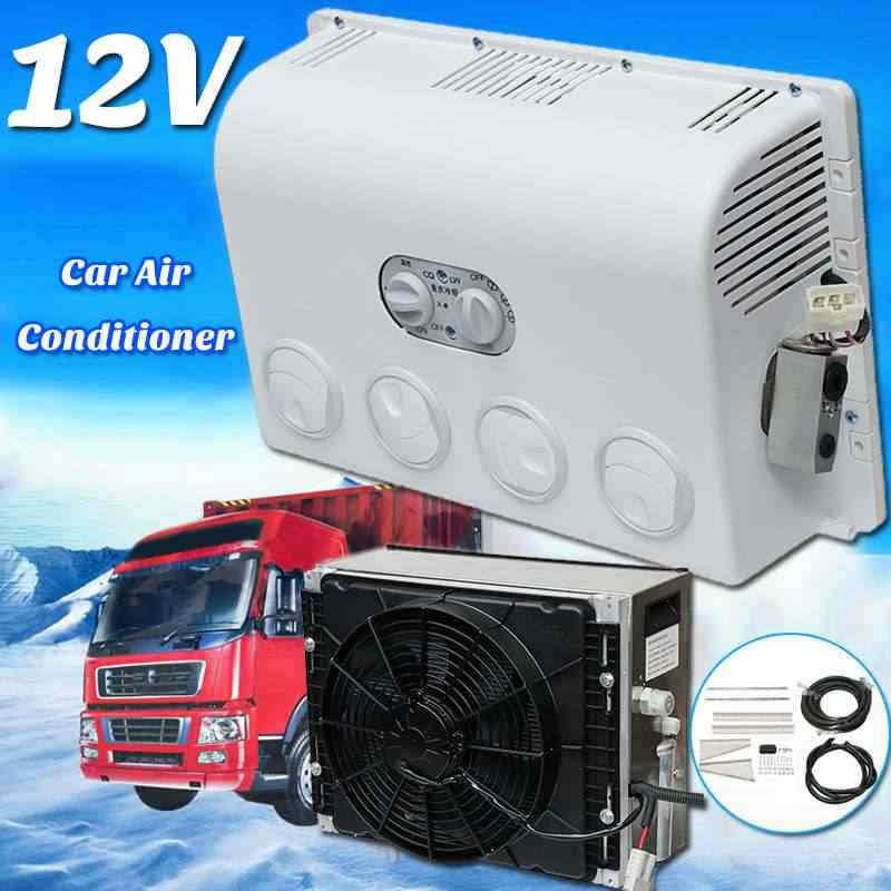 12V/24V stainless steel Mini Car Air Conditioner Multifunction Portable Wall-mounted Cooling Fan Cooler For Caravan Truck