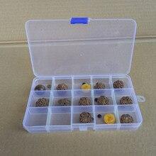 15 Slots Cells Transparent Portable Jewelry Tool Storage Box Container Ring Electronic Parts Screw Beads Organizer Plastic Box стоимость