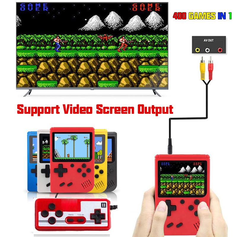 Retro quente fc 400 em 1 vídeo game console jogos gameboy pocketgo consola retro jogo mini jogadores de mão 8 bit clássico gamepad