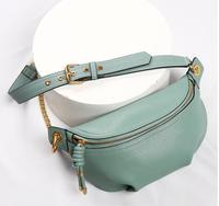 MAHEU Genuine leather waist bags women designer fanny pack fashion belt female lady wait pack bum bag cowskin single shouder bag