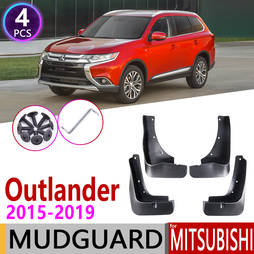 Car Mudflaps For Mitsubishi Outlander 2015 2016 2017 2018 201 Fender Mud Guard Flaps Splash Flap Mudguards Accessories 3rd 3 Gen