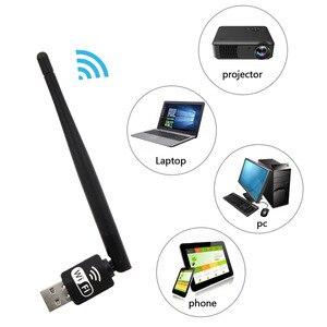 VONETS USB WiFi приемник адаптер 150 Мбит/с Lan беспроводная сетевая карта с антенной для XP Vista Windows 7 Linux MAC OS X компьютера