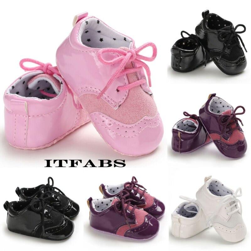 Infant Baby Girls Boys Shoes Autumn Soft Sole Botton Crib Anti-slip Prewalker PU