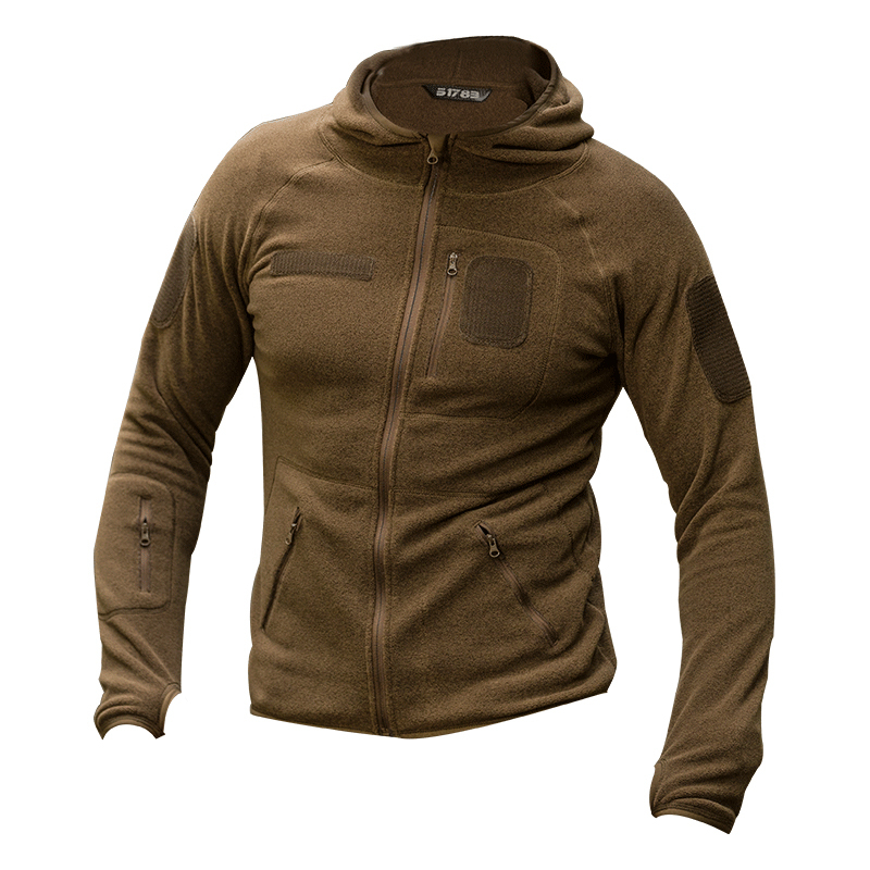 Hot Spring Tactical Training Fleece Jacket Outdoor Cardigan Hooded Sweater Men Camping Hiking Fishing Hunting Coat Sport Clothes