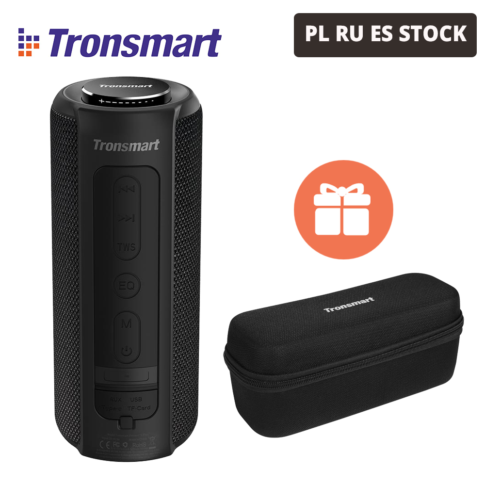[В наличии] Tronsmart элемент T6 плюс наушники-вкладыши TWS с Портативный Bluetooth Динамик TF/SD карты 40W 15 часов на открытом воздухе Портативный мини Дин...