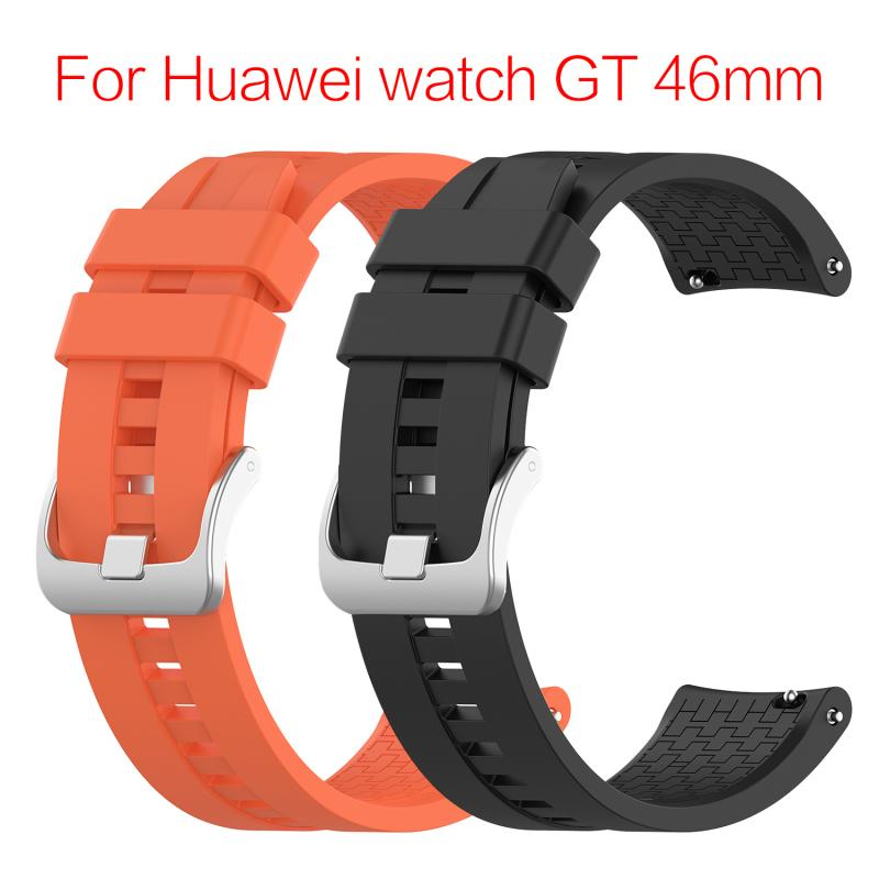 Replacement Strap For Huawei Watch GT 46mm  Silicone Strap Universal Display Width 22MM Watch Sport Bracelet Watchband