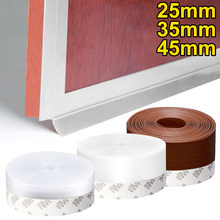5M Silicone Door Bottom Window Seal Strip Weather Rubber Seal Weatherstrip Self Adhesive Windproof Dust Windshield Sealing Tape