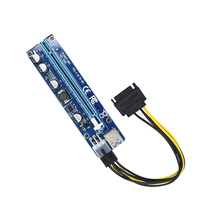 6 adet VER008C Molex 6 pin PCI Express PCIE PCI-E yükseltici kart 008C 1X to 16X genişletici 60cm USB3.0 kablo madencilik Bitcoin madenci