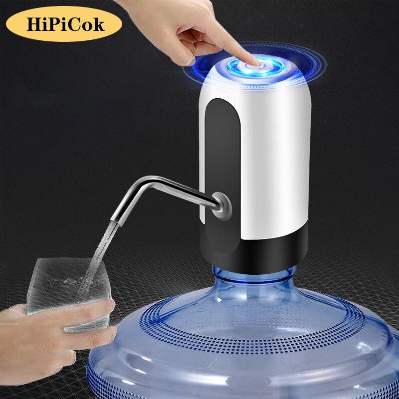 HiPiCok бутылка питьевой воды насос зарядка через USB автоматический Электрический водяной насос дозатор Бутылка Водяной насос автоматический ...