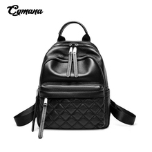 Real Cowhide Backpack Women Backpack Genuine Leather Zipper School Bags For Teenage girl Diamond Female Designer Backpack Bolsas real cowhide backpack 2019 large capacity women backpack 100% genuine leather lady travel bag daily casual knapsack schoolbag female designer backpack bolsas