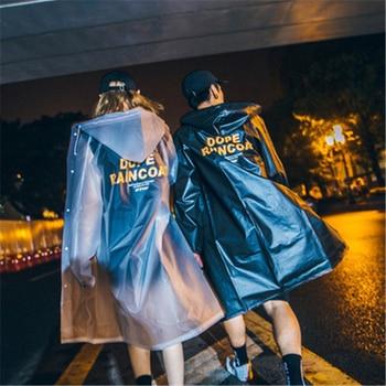 Transparent Raincoat Women Rain Coat Men Long Poncho Hooded Rainwear EVA Impermeable Waterproof Rain Cover Adult Fashion Cool