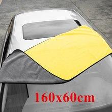 160x60cm grosso pelúcia microfibra toalha lavagem de carro acessórios super absorvente limpeza de carro detalhando pano toalhas de secagem de cuidados automóveis