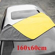 160x60CM di Spessore Peluche Asciugamano In Microfibra Lavaggio Auto Accessori Auto Super Assorbente Per La Pulizia Detailing Panno Auto Cura di Essiccazione asciugamani