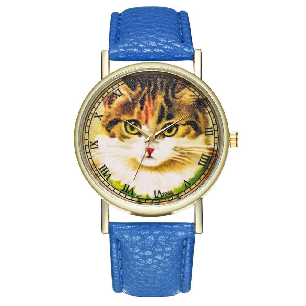 Fashion Watch Simple Leather Strap Quartz Watch Women Wrist Watch Fashionable Popular Quartz Watch Clearance